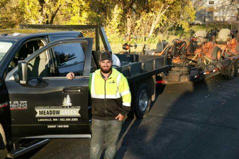 Meadow Green Landscape crew member
