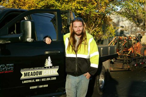 Meadow Green Landscape crew member